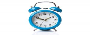 education Blue alarm Clock