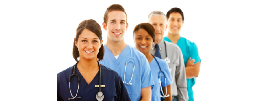 group of nurses and doctor